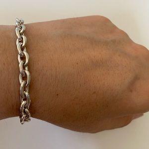Other - RESTOCKED❣️Unisex silver handmade chain bracelet